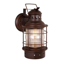 Vaxcel Lighting - Vaxcel Lighting OW37081BBZ Nautical Transitional Outdoor Wall Sconce - Vaxcel Lighting OW37081BBZ Nautical Transitional Outdoor Wall Sconce