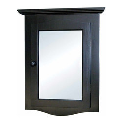 Renovators Supply - Medicine Cabinets Black Hardwood Corner Medicine Cabinet 27 1/8"""