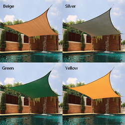 None - Large Square Sail Sun Shade - Perfect for covering patios, courtyards, playgrounds, or parking lots, this sun shade is a great way to add a touch of comfort anywhere in your yard. This shade blocks up to 90-percent of UV rays.