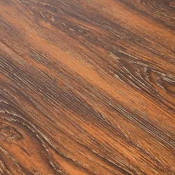 Lamton - Lamton Laminate - 12mm Wide Board Handscraped Collection - [21.3 sq ft/box] - Roasted Hickory -  Creating the warmth of a real wood floor, and bringing out the contrast in light and dark grain patterns is a snap with the Lamton Roasted Laminate Flooring Collection.    This is a selection of quality surfaces that is all about the tastefully subtle nature of real wood patterns and colors. But, this collection also represents the latest in manufacturing technology that makes each floor one that is DIY-friendly, and made to endure for the long-term.    Wide-board laminate flooring brings out a modern style    The Lamton Roasted Collection of laminate flooring appeals to multiple senses, with deep embossed hand-craped surfaces that replicate the look of a natural hardwood floor.     The colors you`ll see in this collection put the contrast between light and dark to the forefront. This means that dark grain patterns, against lighter, golden color spectrums that can open up all kinds of design potential in hallways, living areas, bedrooms, and even in basement locations.    Because of their versatility, and because the naturally decorative presence of grain patterns are universally appealing, any selection you see can be easily added to any kind of interior design direction, from rustic country effects to modern contemporary atmospheres.    Made to endure    The Roasted Collection of wide board laminate floors brings you top-quality, CARB-ATCM - Phase 1 compliant, HDF-core laminate flooring, and features a pressed bevel edge with a single wide plank design that maintains its AC3 rating on the beveled edge as well. This means that they are made to resist abrasion and everyday foot traffic where the laminate flooring of the past has traditionally been the most vulnerable _ in the spaces between each board.    Each board fits together easily with the next one