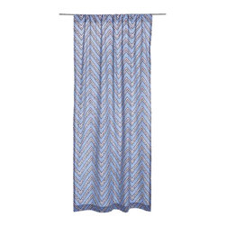 John Robshaw Textiles Chevron Window Sheers - These hand screened curtains from John Robshaw will add dramatic texture to your windows.