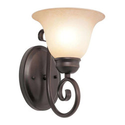 Trans Globe Lighting - Trans Globe Lighting 70221-1 ROB Wall Sconce In Rubbed Oil Bronze - Part Number: 70221-1 ROB