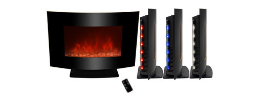 """AKDY - AG-Z520APB Wall Mount Electric Fireplace, Pebble, 36"""", W/o Free Standing Kit - GV's high performance wall mount electric stoves offer the instant ambiance of a traditional fireplace experience. Each of our wall mount electric fireplaces provide quiet, instant heat and eye-catching design. You will find electric stoves with both classic and traditional designs that will complement many decors. Our electric fireplaces are ideal for condominiums, lofts, apartments or single homes. Simply plug in and enjoy the warmth and realistic flame of your new fireplace anywhere in your home. The 3-D flame technology provides you with a realistic flame that can be enjoyed year round with or without heat. Our electric fireplace stoves plug into any standard outlet and move easily from one room to another."""