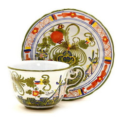 Artistica - Hand Made in Italy - Faenza: Coffee/Tea Cup and Saucer - Faenza Collection: