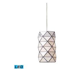 Elk Lighting - Elk Lighting 72021-1-LED Tetra Transitional Mini Pendant Light - Elk Lighting 72021-1-LED Tetra Transitional Mini Pendant Light in Polished Chrome