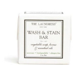 Wash and Stain Bar - 2 oz - Keep your household linens and favorite luxury garments professionally and ecologically clean and stain-free at home with the Wash and Stain Bar.  Tucking one of these hypoallergenic, biodegradable laundry bars into a drawer or cedar chest keeps the fabric within fresh, and then the bar can be used to lift small, difficult stains from your fine household fabrics.  Perfect for spot-cleaning food stains on table linens or hand-washing heirloom pillow cases, Wash and Stain Bars are ever-useful to keep on hand.