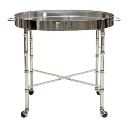 Brighton Bar Cart-Nickel-Plated - Brighton Bar Cart-Nickel-Plated