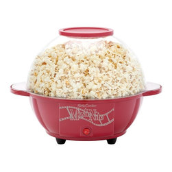 BETTY CROCKER - Betty Crocker BC-2970CR Cinema-Style Popcorn Maker (Red) - Pops up to 170g of kernels for a yield up to 25 cups of popcorn