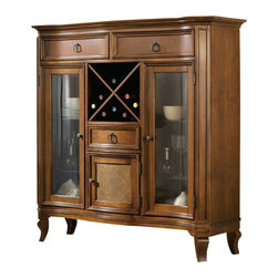 Hooker Furniture - Hooker Furniture Windward Display Buffet in Light Brown Cherry - Hooker Furniture - Buffet Tables and Sideboards - 112576907