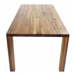 Munich Table - The Munich table, here shown in walnut, is our bestseller.