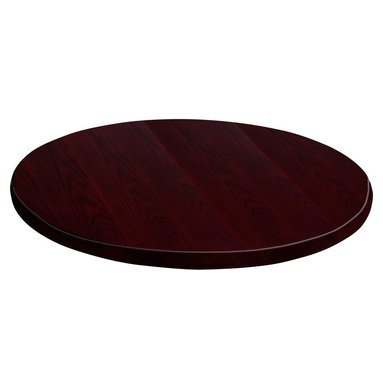 Flash Furniture - Flash Furniture 48 Inch Round Mahogany Veneer Table Top - GM-MAH-VEN-48RD-GG - Complete your restaurant, break room or cafeteria with this durable and attractive table top. The top is comprised of a Medium-Density fiberboard core which makes it much denser and stronger than a typical plywood core. This table top is Designed for commercial use so you will be assured it will withstand the daily rigors in the hospitality industry. [GM-MAH-VEN-48RD-GG]