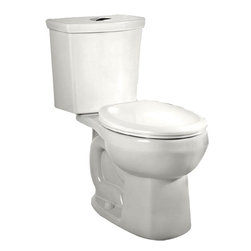"""American Standard - American Standard 2888.216.020 H2Option Dual Flush Round Front Toilet, White - American Standard 2888.216.020 H2Option Siphonic Dual Flush Right Height Round Front Toilet,  White. This round-front toilet features a vitreous china construction, a high-efficiency low-consumption 1.6 GPF flow rate, a round-front siphon action bowl with direct-fed jet, a 16-1/2"""" rim height, a fully-glazed 2"""" trapway, a 12"""" Rough-in, a chrome plated top mounted push-button actuator, a sanitary bar on bowl, 2 color-matched bolt caps, and a design that meets EPA WaterSense critera."""