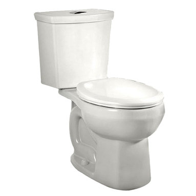 "American Standard - American Standard 2888.216.020 H2Option Dual Flush Round Front Toilet, White - American Standard 2888.216.020 H2Option Siphonic Dual Flush Right Height Round Front Toilet,  White. This round-front toilet features a vitreous china construction, a high-efficiency low-consumption 1.6 GPF flow rate, a round-front siphon action bowl with direct-fed jet, a 16-1/2"" rim height, a fully-glazed 2"" trapway, a 12"" Rough-in, a chrome plated top mounted push-button actuator, a sanitary bar on bowl, 2 color-matched bolt caps, and a design that meets EPA WaterSense critera."