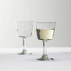 Viva Terra - Dimpled Glass Goblets (set of 4) - The footed glass, bowl, tumbler and pitcher all share a common source: recycled