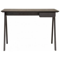 Blu Dot - Stash Desk | Blu Dot - Radius edges and wood couple in the elemental Stash Desk by Blu Dot. The handy pencil drawer keeps it tidy and can be assembled to either the left or right side. Available in select finishes.
