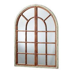 Cyan Design - Cyan Design Richmond Mirror X-77840 - From the Richmond Collection, this Cyan Design mirror starts with a classic arched shape. The arched body has been paired with a gridded overlay, with two individual pieces for a more refined appearance. Rustic Verde finishing adds a well loved final touch.