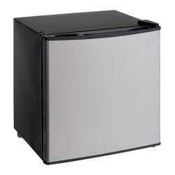 Avanti - 1.4 Cubic-Foot Dual Refrigerator Freezer - Avanti VFR14PS-IS - 1.4CF Dual Function Refrigerator or Freezer - Converts From Refrigerator To A Freezer. 1.4 CU. FT. CAPACITY. Euro-style rounded door. Recessed handle. Flush back design. Full range temperature control. Reversible door - left or right swing. Security door lock (not shown). Product comes with parcel post packaging. Color: black with platinum door.
