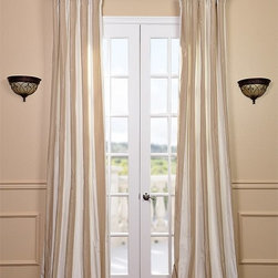 Cappuccino Faux Silk Taffeta Stripe Curtain - The Faux Silk Taffeta Stripe drapes & curtains can be a bold or subtle statement to any room depending on your color choice. Whether you want to create a dramatic statement or just to enhance your current décor a stripe is always a nice way to go. Be bold and go with a multi color stripe. Or just update an space with a 2 color stripe