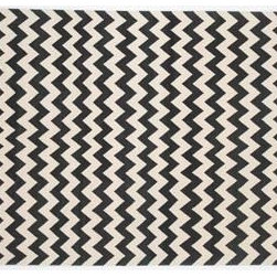 Zigzag Tibetan Wood Rug from Madeline Weinrib Atelier - Super graphic black and white zig-zag-a real statement piece which could really liven up a traditional space or work well in a modern design.