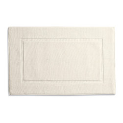 Frontgate - Resort Cotton Bath Mat - Cotton bath rugs acquire a more lush texture with every machine washing. Made of 100% combed cotton yarns. Custom-dyed for vibrant, non-fading hues. Luxury bath rugs are hand-sewn. Machine-washable.. Our Resort Bath Rugs provide luxury underfoot as you step out of the shower. These fine bath rugs are woven from a superbly soft high pile offset by a band of low loops. . Made of 100% combed cotton yarns. . . . Imported.