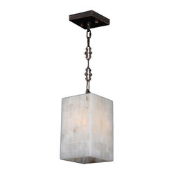 "Worldwide Lighting - Pompeii 1 Light Flemish Brass Finish Natural Quartz 6"" Square Mini Small Pendant - This stunning 1-light Square Mini Pendant only uses the best quality material and workmanship ensuring a beautiful heirloom quality piece. Featuring a radiant flemish brass finish and natural quartz stone from Spain, this elegant pendant will liven up any room. No synthetic process could replicate the natural beauty of this beautiful quartz pendant. Worldwide Lighting Corporation is a privately owned manufacturer of high quality crystal chandeliers, pendants, surface mounts, sconces and custom decorative lighting products for the residential, hospitality and commercial building markets. Our high quality crystals meet all standards of perfection, possessing lead oxide of 30% that is above industry standards and can be seen in prestigious homes, hotels, restaurants, casinos, and churches across the country. Our mission is to enhance your lighting needs with exceptional quality fixtures at a reasonable price."