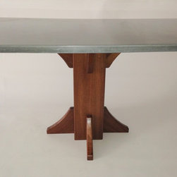 Concrete Banquette Dining Table -