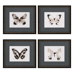 Paragon Art - Paragon Inked Butterflies ,Set of 4- Artwork - Inked Butterflies ,Set of 4    ,  Paragon Exclusive Giclee     Shadow Box           Artist is Sayilir , Paragon has some of the finest designers in the home accessory industry. From industry veterans with an intimate knowledge of design, to new talent with an eye for the cutting edge, Paragon is poised to elevate wall decor to a new level of style.