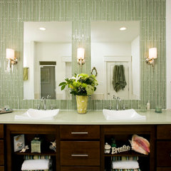 eclectic bathroom by John F Heltzel AIA Architects