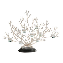 Coral Votive Tree - This oversized coral votive tree would make a great statement piece on a dining buffet or foyer console table.