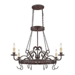 Jeremiah Lighting - Jeremiah Lighting-23634-BA-Brookshire Manor - Four Light Ceiling Fixture - The Brookshire Manor family of lights creates a feeling of the old world charm with the use of draped chains and subtle scrolled metal treatment throughout the body of the fixture. This charming look is further accented with amber etched glass shading and a unique designer banding on the hanging units. The Burnished Armor finish used is a deep bronze base coat with a touch of gold highlighting.