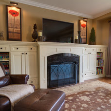 Traditional Family Room by Avalon Interiors