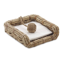 Seagrass Napkin Holder - I can't remember an outdoor dinner party where the napkins didn't start to blow away. This seagrass napkin holder would do a beautiful job of keeping dinner napkins all in one place.