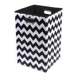 Bold Chevron Folding Laundry Basket