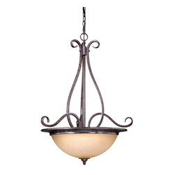 """Vaxcel - Vaxcel ES-PD35924AZ/B Mont Blanc 24"""" Pendant - Delicate filigree frame and Energy Star compliance for this pendant."""