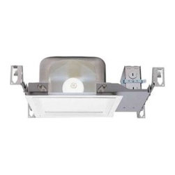 Halo - Halo 9 in. Square Aluminum Recessed Lighting Housing H1T - Shop for Lighting & Fans at The Home Depot. This Halo 9 in. Square Aluminum Recessed Lighting Housing accepts up to a 100-watt incandescent bulb to provide bright downlighting in your room. Install this housing in new construction where there is either no insulation or where insulation is kept at least 3 in. from the housing. With an integrated thermal protector and pre-installed captive bar hangers, this housing safely and easily installs within 24 in. x 2 in. x 6 in. joist spaces or onto drop ceiling t-bars.