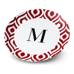 Gallery Monogram Plate - A plate that's uniquely yours. Just add text or photos to these ready-made designs.