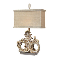 Dimond Lighting - Dimond Lighting Springfield Scroll Table Lamp w/ Acrylic Base - Scroll Table Lamp w/ Acrylic Base belongs to Springfield Collection by Dimond Lighting Lamp (1)