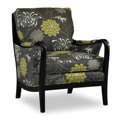 Sam Moore - Sam Moore Fremont Exposed Wood Chair - Charcoal Multicolor - 4517.22/2634 CHARCO - Shop for Living Room Chairs from Hayneedle.com! Add Asian-inspired modern design and luxurious comfort to your home with the Sam Moore Fremont Exposed Wood Chair - Charcoal. The exotic green white and charcoal grey floral pattern goes beautifully with its curved dark java-finished arms and legs. A blendown seat cushion adds comfort while the welt trim detailing and covered sides add a distinctive look.About Sam MooreSince 1940 Sam Moore's hand-crafted upholstered furniture has offered extraordinary quality comfort and style. This Bedford Virginia-based company proudly crafts its products right here in the USA. From classic to transitional to contemporary styles Sam Moore takes time with every detail making sure each piece is something you'll appreciate in your home.