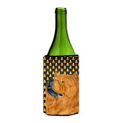 Caroline's Treasures - Chow Chow Candy Corn Halloween Portrait Wine Bottle Koozie Hugger SS4295LITERK - Chow Chow Candy Corn Halloween Portrait Wine Bottle Koozie Hugger SS4295LITERK Fits 750 ml. wine or other beverage bottles. Fits 24 oz. cans or pint bottles. Great collapsible koozie for large cans of beer, Energy Drinks or large Iced Tea beverages. Great to keep track of your beverage and add a bit of flair to a gathering. Wash the hugger in your washing machine. Design will not come off.