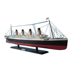 """Handcrafted Model Ships - Britannic Limited 40"""" - Wood Cruise Ship Model - Sold fully assembled"""