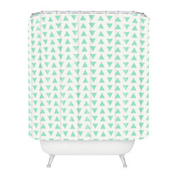 Fresh Triangles Shower Curtain - For an easy update to your bath, this shower curtain does the trick. With its mint-hued triangle pattern, it's cool, modern, and—dare we say it—hip.