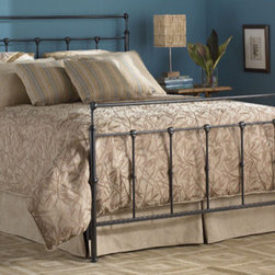 FBG - Winslow Metal Bed - The Winslow Bed is perfect for any bedroom in your home. The headboard and footboard are in a beautiful Mahogany Gold finish, with ornate details and stylish shapes. Features: -Mahogany Gold finish. -Linens and mattress are not included. -10 Years limited warranty on brass, plated brass, painted metal or finished wood components. -Please Note: Twin size ships via UPS, which consists of traditional UPS delivery service. About Fashion Bed Group Fashion Bed Group is one of the largest, most innovative, suppliers of fashion beds, daybeds, futons, bunk beds, bed frames, and bedding support products in North America. Its beds are manufactured of genuine brass, plated brass, cast zinc, cast aluminum, steel, iron, wood, wicker and rattan. Fashion Bed Group was created in 1991, as a division of Leggett and Platt, by consolidating three leading bed manufacturers. Need a mattress with your bed purchase? Browse selection of Serta Mattresses - starting at just $379!