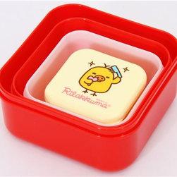 Rilakkuma Bento Box 4 pcs Lunch Box San-X kawaii - Cute Rilakkuma Bento Box 4pcs