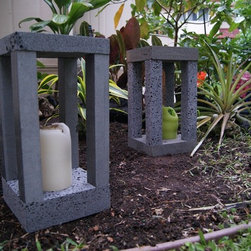 Basalt Candle Holder Havaiano collection - Bringing Hawaiian Style to your life! This is the PERFECT candleholder for garden there is! Made out of volcanic stone (basalt), very Hawaiian, natural, earthy, stylish... besides giving a awesome look to your garden, you also could put it in your living room, kitchen and house entrance. The cool dark grey/black stone feeling with the warmness of the candles is just the-great-combo... lava & fire! Since it's made out of stone, you reduce the risk of having burning accidents :-)