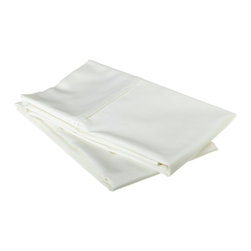 "530 Thread Count Egyptian Cotton King White Solid Pillowcase Set - Our 530 Thread Count Pillowcase Set offers the ultimate softness of a lower thread count. They are composed of premium, long-staple cotton and have a ""Sateen"" finish as they are woven to display a lustrous sheen that resembles satin. Set includes: (2) Pillowcases 20""x40"" each."