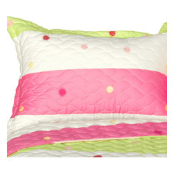 Blancho Bedding - Colorful Life Cotton 3PC Vermicelli-Quilted Patchwork Quilt Set-King - The [Colorful Life] Quilt Set (King Size) includes a quilt and two quilted shams. This pretty quilt set is handmade and some quilting may be slightly curved. The pretty handmade quilt set make a stunning and warm gift for you and a loved one! For convenience, all bedding components are machine washable on cold in the gentle cycle and can be dried on low heat and will last for years. Intricate vermicelli quilting provides a rich surface texture. This vermicelli-quilted quilt set will refresh your bedroom decor instantly, create a cozy and inviting atmosphere and is sure to transform the look of your bedroom or guest room. (Dimensions: King quilt: 90.5 inches x 105 inches Standard sham: 24 inches x 33.8 inches)