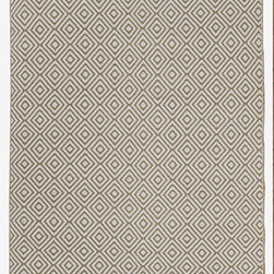Fab Habitat - Veria - Khaki (5' x 8') - Grecian elegance is the inspiration for the modern geometric pattern of this eco-chic rug. Hand woven from 100 perfect recycle cotton, this stunning rug will cover your floor with so much sophistication and softness. Available in a variety of colors and sizes.