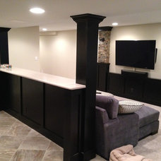Traditional Basement by Hogan Design & Construction (HDC)