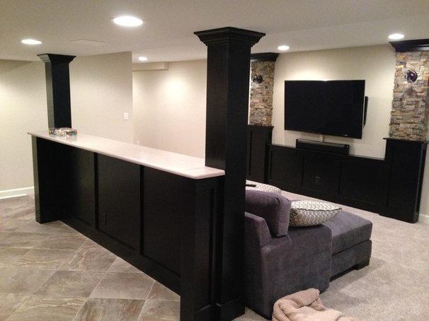 Traditional Basement by Hogan Design & Construction (HDC)