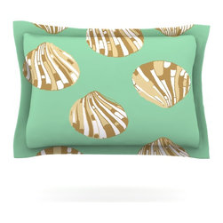"Kess InHouse - Rosie Brown ""Scallop Shells"" Pillow Sham (Cotton, 40"" x 20"") - Pairing your already chic duvet cover with playful pillow shams is the perfect way to tie your bedroom together. There are endless possibilities to feed your artistic palette with these imaginative pillow shams. It will looks so elegant you won't want ruin the masterpiece you have created when you go to bed. Not only are these pillow shams nice to look at they are also made from a high quality cotton blend. They are so soft that they will elevate your sleep up to level that is beyond Cloud 9. We always print our goods with the highest quality printing process in order to maintain the integrity of the art that you are adeptly displaying. This means that you won't have to worry about your art fading or your sham loosing it's freshness."
